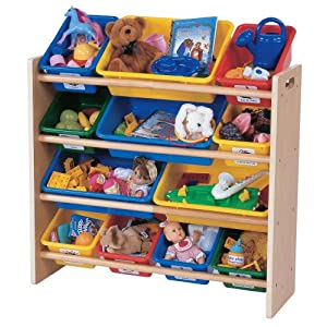 toy organizer with removable bins