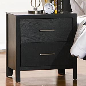 Grove Collection Nightstand Black Finish Coaster Furniture
