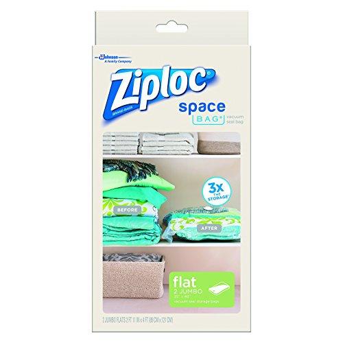 """Space Bag, 2 Jumbo Vacuum Seal Storage Bags, Each, Clear, (35"""" X 48"""")"""