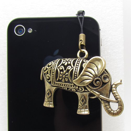 Newlifestart Stylish Retro 3.5Mm Metallic Elephant Pattern Cellphone Charms Anti-Dust Dustproof Earphone Audio Headphone Jack Plug Stopper For Iphone 3 3Gs 4 4S Ipad Samsung Galaxy S2 S3 S4 Note I9220 Htc Sony Nokia Motorola Lg Lenovo