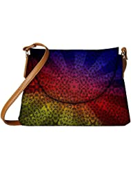 Snoogg Abstract Sun Rays Designer Womens Carry Around Sling Bags