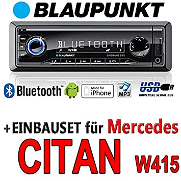 Mercedes citan w415 brisbane bLAUPUNKT - 230/mP3/uSB avec kit de montage autoradio avec bluetooth