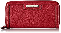 Nine West Table Treasures Zip Around Wallet, Cassis, One Size