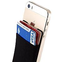 スマホ手帳型ケース+電磁波干渉防止シート 定期入れ、カード入れができるsinji スマートポケット iphoneケース手帳型+全ての機種対応 Suica PASMOを入れて おサイフケータイに使える Sinjiポーチベーシック2+電磁波防止カード,ブラック