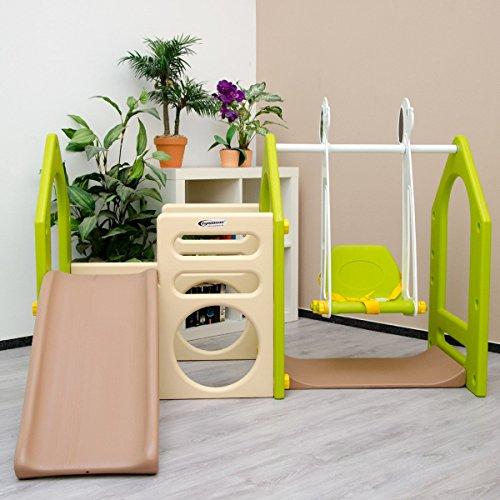 preisvergleich littletom kinder spielhaus mit rutsche und schaukel willbilliger. Black Bedroom Furniture Sets. Home Design Ideas