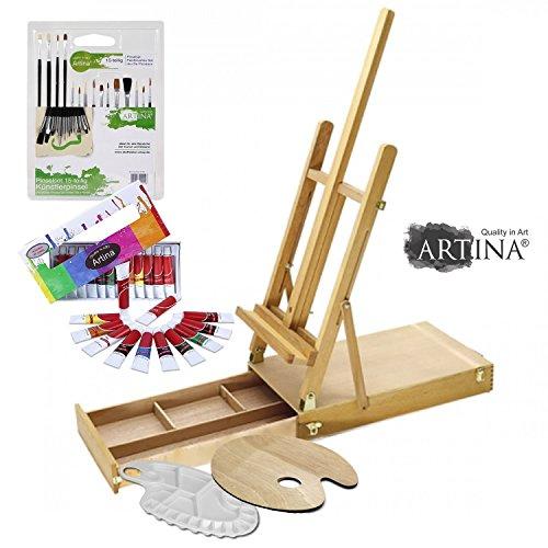 artina-starter-kit-ensemble-de-peinture-a-lhuile-pour-artistes-malette-chevalet-de-table-accessoires