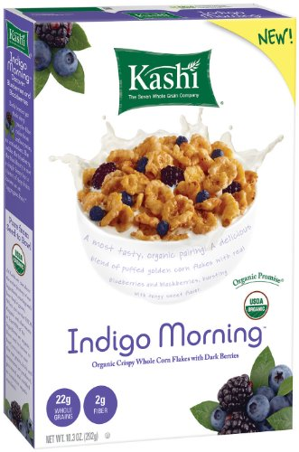 Kashi Indigo Morning Flakes With Dark Berries 10.3-Ounce