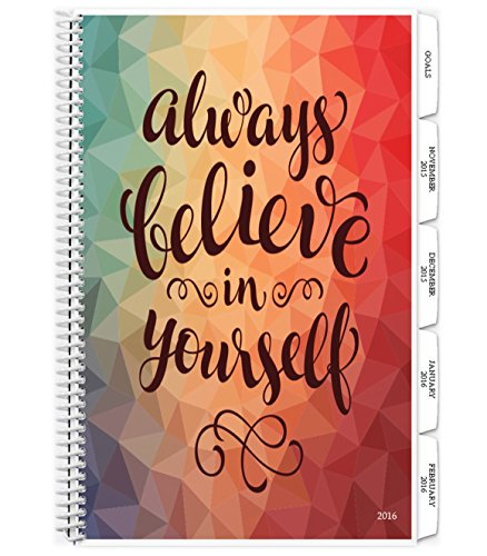 Tools4Wisdom Planner 2016 Calendar 4-in-1: Daily Weekly Monthly Yearly Organizer - Purpose Driven Goals Planning Book - Personal Life Progress Journal Notebook (8.5 x 11 / 200 Pages / Spiral)