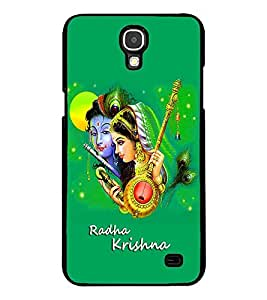 Fuson Premium Radha Krishna Metal Printed with Hard Plastic Back Case Cover for Samsung Galaxy Mega 2 G7508