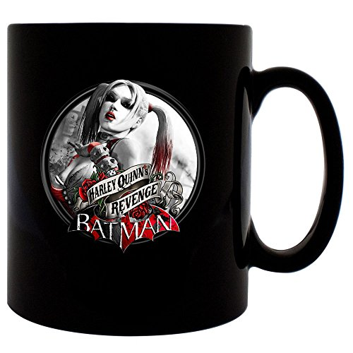 [arkham city harley quinn revenge Mug 11oz Ceramic Coffee Mug (Black)] (Book Week Character Costume Ideas)