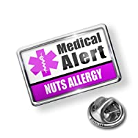 Pin Medical Alert Purple Nuts Allergy - Lapel Badge - NEONBLOND from NEONBLOND