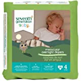Seventh Generation Baby Free and Clear Overnight Diapers, Stage 4, 24 Count