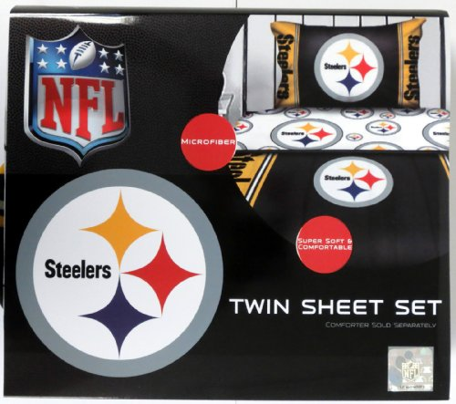 Pittsburgh Steelers NFL Microfiber Twin Bed Sheet Set at Amazon.com