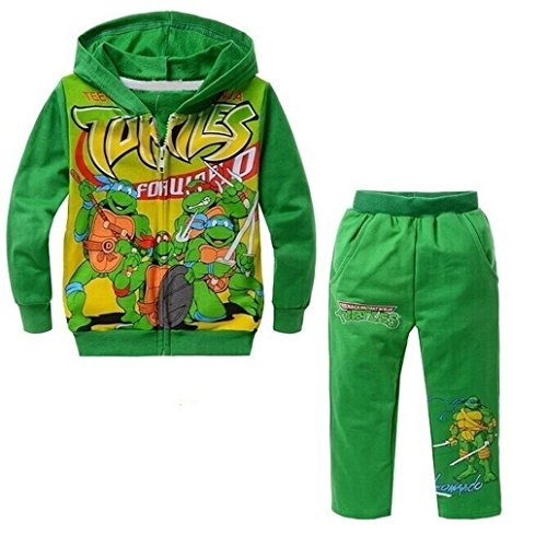 Volyer Children's Ninja Turtles Hoodie Suits Boy's Cartoon Sweat Sets