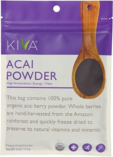 Kiva Organic Acai Berry Powder - Non-GMO, RAW, Vegan (4.0