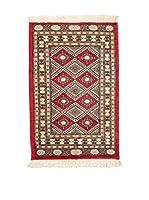 QURAMA Alfombra Kashmir Rojo/Multicolor 96 x 62 cm