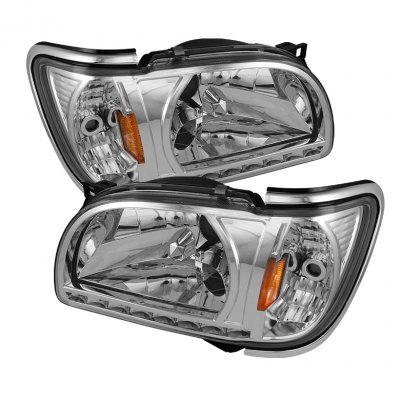 FOR 07-13 GMC SIERRA 1500 DENALI CRYSTAL BLACK//SMOKE HEADLIGHT LAMP W//50W 6K HID