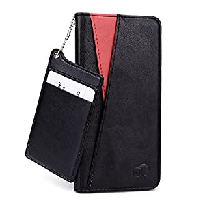 Kroo® Seattle Apple iPhone 6 Plus Folio Case | Super Slim Credit Card ID Case Included | Two-Tone Cover by Kroo
