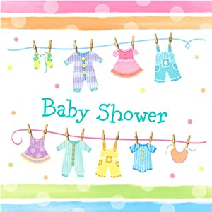 party baby shower paper napkins baby clothes kitchen dining