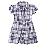 Mossimo Supply Co. Girls' Short-Sleeve Plaid Tunic - Gray