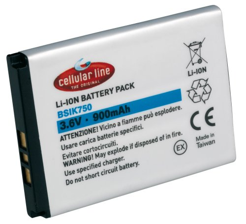 Cellular Line Li-Ion Akku, 760mAh, f&#252;r Nokia 3220, 5140, 7360, N80, N90 und baugleiche