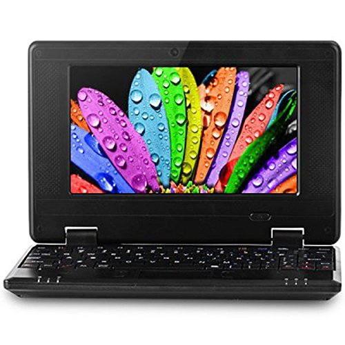 "Eforprice 7"" Mini Notebook Laptop Netbook Android 4.2 1Gb Ram 8Gb Storage Via 8880 Cortex-A9 1.2Ghz Wifi Windows Hd Solid Black Mini Laptop 7 Inch Netbook Notebook Computer Tablet Pc, Installed Wifi And Camera, Watch News, Youtube Facebook Twitter, Suppor"