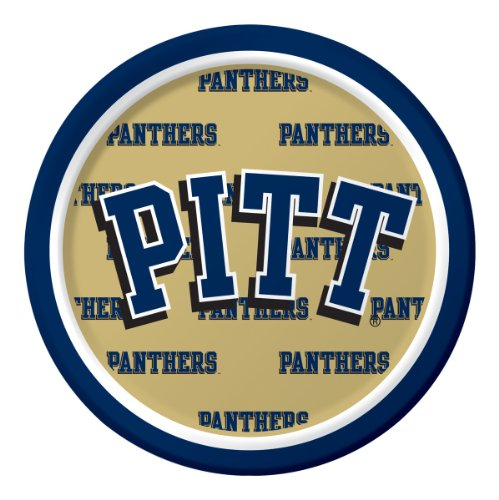 Creative Converting Pittsburgh Panthers Dessert Paper Plates (8 Count) - 1