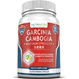 Garcinia Cambogia Ultra Premium Pure Extract With 3 200mg - 120 Capsules For Easy Weight Loss. Natural Appetite...