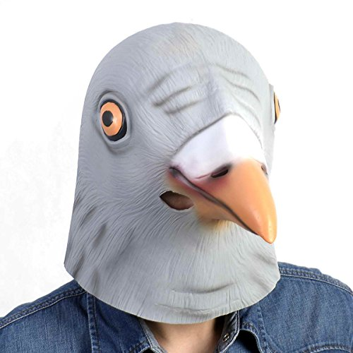 Safstar Horror Magical Head Mask Halloween Cosplay Party Costume (Pigeon Mask)