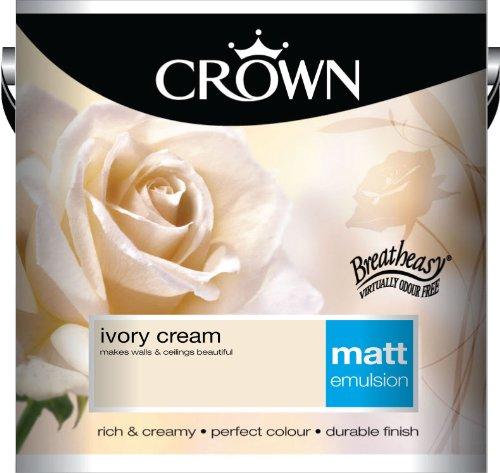 Crown Matt 2.5L Emulsion - Ivory Cream