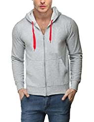 Scott Men's Premium Cotton Blend Pullover Hoodie Sweatshirt With Zip - Grey - 1.1_sslz3_XL