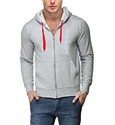 Scott International Full Sleeve Hooded Unisex Grey Milange Sweatshirt