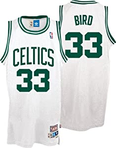 NBA adidas Boston Celtics #33 Larry Bird White Hardwood Classics Swingman Basketball... by adidas