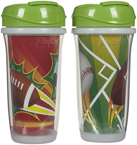 Playtex Insulator/Playtime Cup, 9 Ounce, Sports Theme, 2 Pack