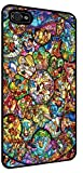 Disney All Characters Stained Glass Iphone 5 and 5s Rubber Case Black