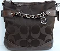 Hot Sale Coach F19730 Signature Chain Duffle Handbag