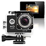 GeekPro® Pro 1 Wifi 12MP Full HD 1080P Sports Camera Waterproof Action DV 170° Wide Helmet Camcorder DVR Sport Camera Action Camera DV Car Dash Camcorder