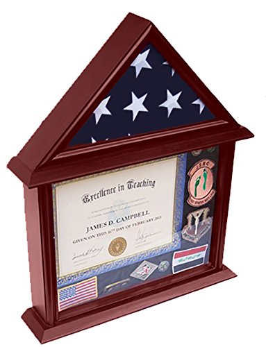 DECOMIL - 3x5 Flag Display Case with Certificate and Document Holder Mngfnsh (Flag Display Case Army compare prices)