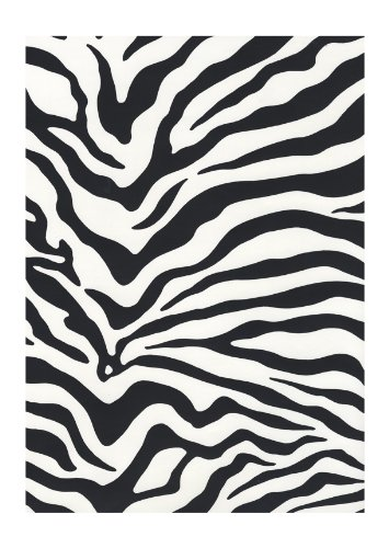 Wall In A Box SS1798 Zebra Accentuated Wallpaper, Black, Whte