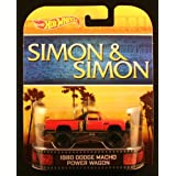 1980 DODGE MACHO POWER WAGON * SIMON & SIMON * Hot Wheels 2013 Retro Series Die Cast Vehicle by Mattel