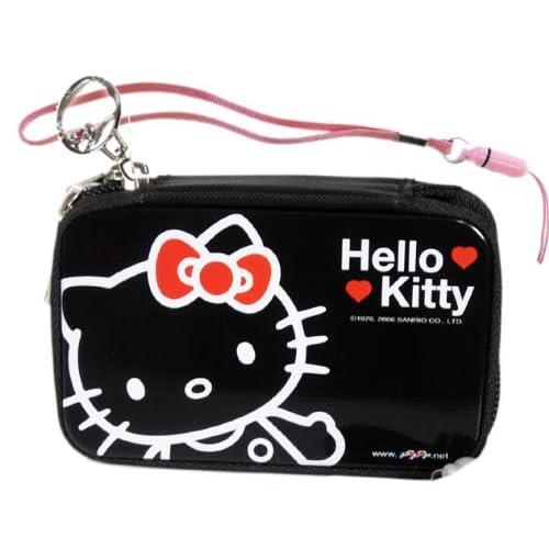 Hello Kitty Camera Case   Cell Phone Tin Case   Black ( Camera Pouch )