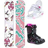 K2 Lil Kandi Grom Pack Snowboard 120 w  Boots sz 4 Bindings Youth by K2