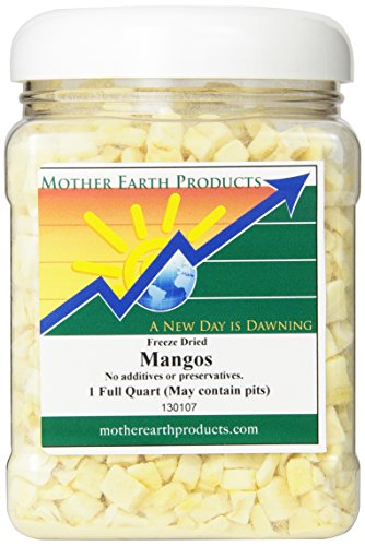 Mother Earth Products Freeze Dried Mangos, 1 Full Quart