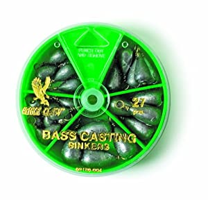 Eagle Claw Bass Casting Sinker Assortment, 27 Piece (Silver) by Eagle Claw