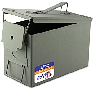 New 50 Caliber Steel Ammo Can M2A1 Waterproof Storage Box Made for US Military