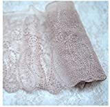 Apricot lace accessories Mesh embroidered lace DIY clothing lace headdress lace (Apricot single side)