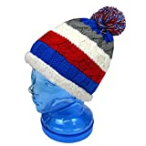 子供用 ニットキャップ キッズ ジュニア 男の子 女の子 スキー用 ニット帽子 ◆fo-ncap1500ブルー