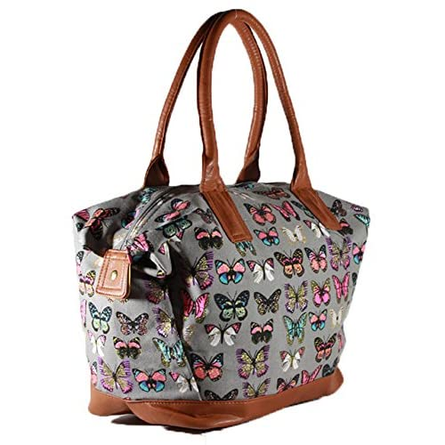 Ladies <strong>Women< strong>'s Canvas Large Tote <strong>Bag< strong> Shoulder Handbag Travel Weekend <strong>Overnight< strong>