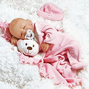 Paradise Galleries Newborn Baby Doll, Carly, 16 inch GentleTouch Vinyl, Weighted Body