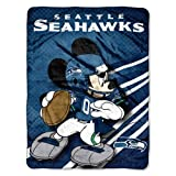 NFL Seattle Seahawks Mickey Mouse Ultra Plush Micro Super Soft Raschel Throw Blanket